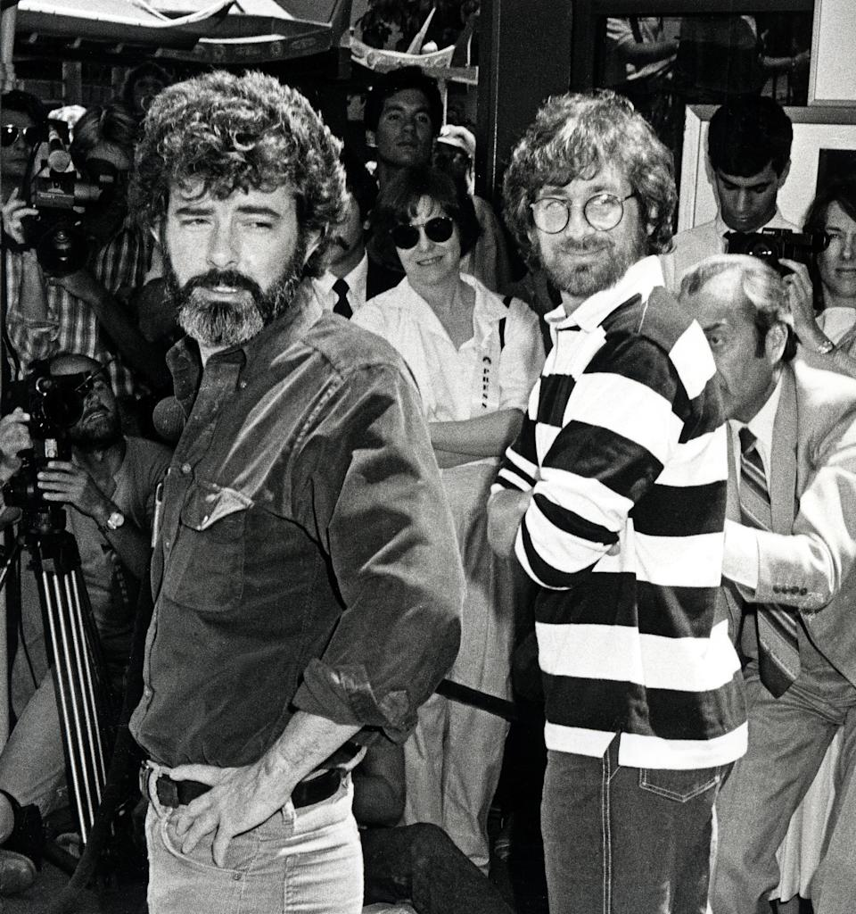 George Lucas and Steven Spielberg (Photo by Ron Galella, Ltd./Ron Galella Collection via Getty Images)