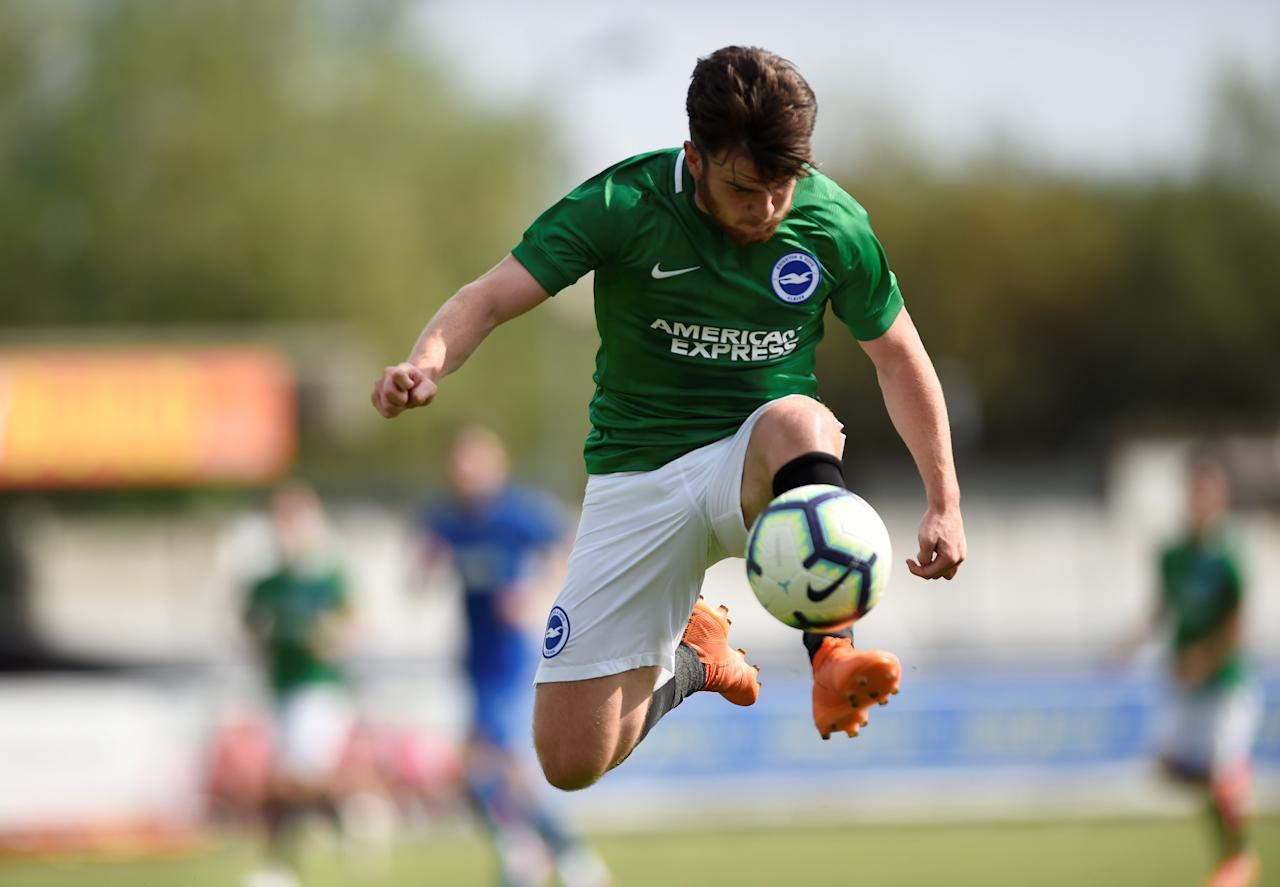 Soccer Football - Pre Season Friendly - AFC Wimbledon v Brighton & Hove Albion - The Cherry Red Records Stadium, London, Britain - July 21, 2018   Brighton's Aaron Connolly in action    Action Images via Reuters/Adam Holt