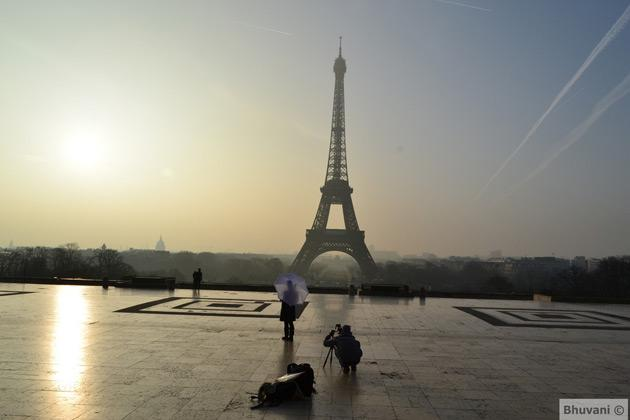 "<p>In 2004, the Eiffel Tower began hosting an ice skating rink on the first floor each winter. Photo by <a href=""https://www.flickr.com/photos/bhuvani/"">Bhuvani Krishnamurthi</a>.</p>"