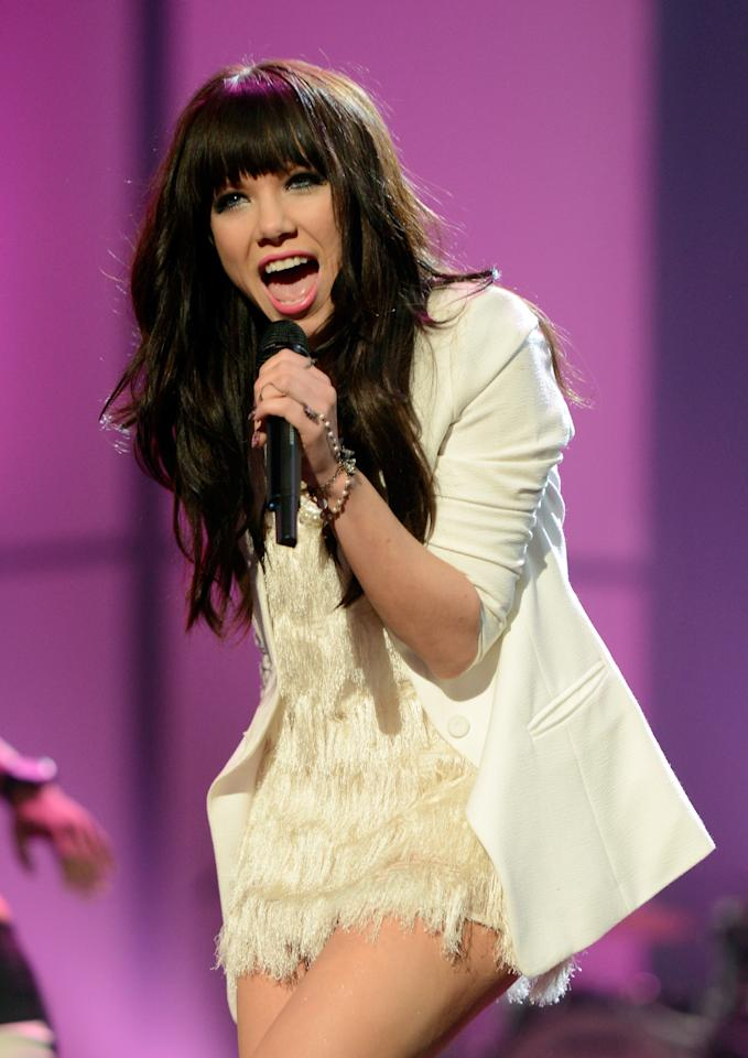 """Snub: Carly Rae Jepsen's """"Call Me Maybe"""" was passed over for Record, but was nominated for Song of the Year. The 27-year old Canadian was also left out of the nominations for Best New Artist.  """"Call Me Maybe"""" proved that the singer can make a classic teen pop record, but the panel apparently wasn't convinced that she has what it takes to go the distance. Jepsen's mentor Justin Bieber was nominated for Best New Artist two years ago."""