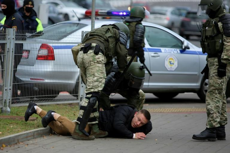 Rights group Viasna said more than 120 people had been detained on Sunday