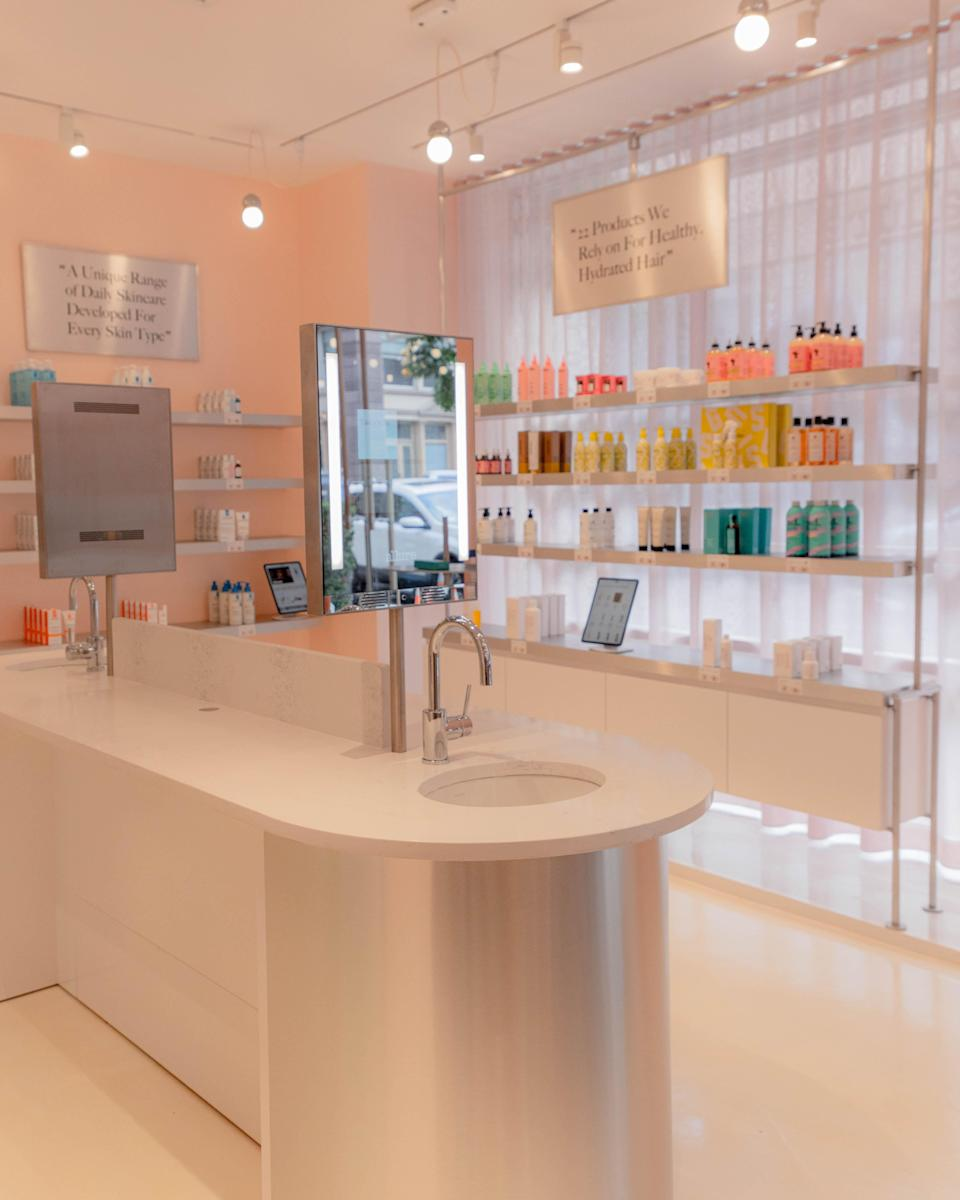 A look inside Allure's first retail store in New York City. - Credit: Allure Store/Architect of Record KTISMA Studio