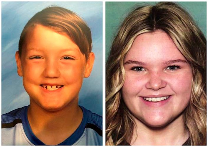 These undated photos released by the National Center for Missing & Exploited Children show Joshua Vallow, 7, (left) and Tylee Ryan, 17. They were last seen on Sept. 23, 2019, in Rexburg, Idaho. Their mother, Lori Vallow, is the second wife of Chad Daybell.