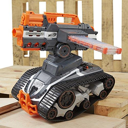 """<p><strong>NERF</strong></p><p>amazon.com</p><p><strong>$139.99</strong></p><p><a href=""""http://www.amazon.com/dp/B01DREMRGK/?tag=syn-yahoo-20&ascsubtag=%5Bartid%7C10060.g.25585053%5Bsrc%7Cyahoo-us"""" target=""""_blank"""">Buy Now</a></p><p>This Drone N-Strike Elite Blaster features a live video feed and is currently an Amazon exclusive.</p><p>It has a dart-firing turret that pops off the treaded base  and was designed to work with all the dart-holding magazines and other attachments that fit Nerf's N-Strike and Modulus lines of guns. This is so that it can accommodate not only accessories that already exist but also newer ones to come.</p><p>Catch this deal of the day so you can gift it to your favorite kid—or keep it for yourself...we don't judge.</p>"""