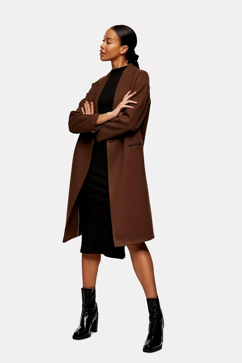 <p>You'll feel in charge when you throw on this <span>Brown Double Breasted Coat</span> ($135).</p>