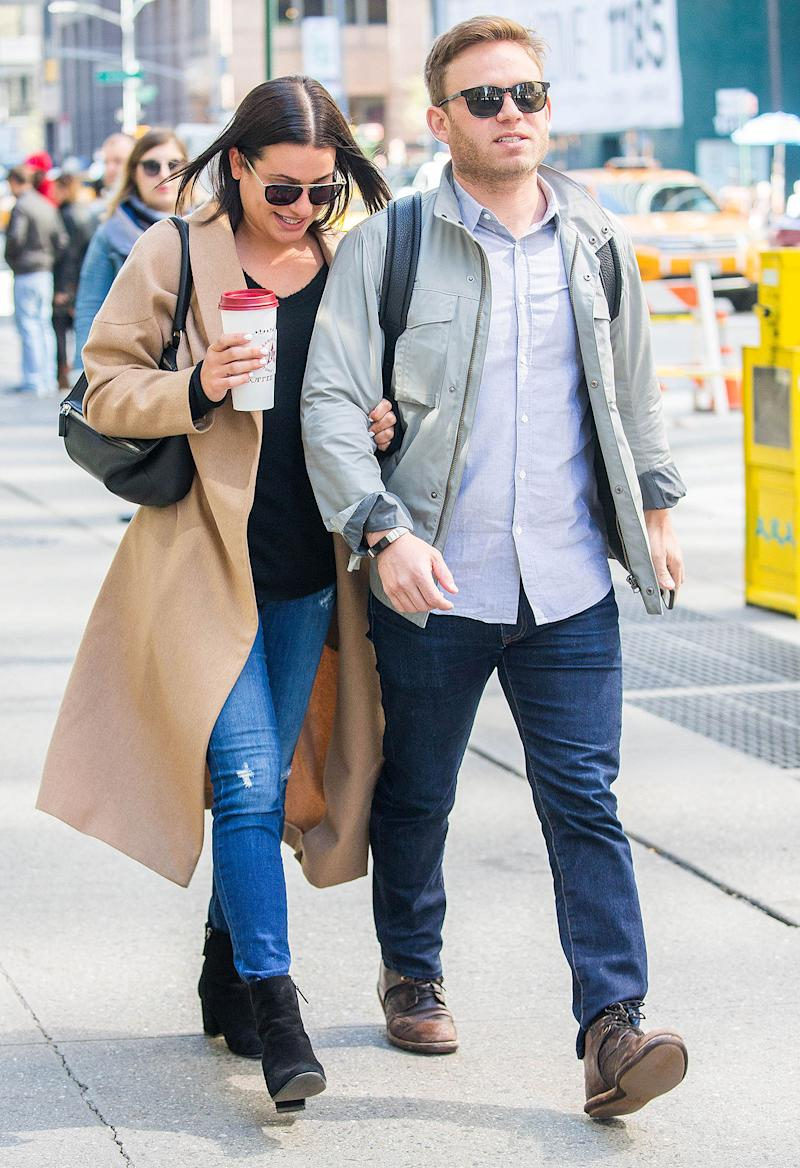 Lea Michele And Fiance Zandy Reich Step Out For The First Time Since Announcing Their Engagement