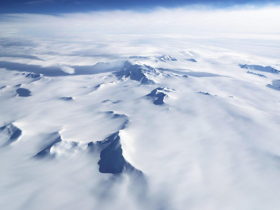 A hidden heat source underneath the Earth seems to be melting Antarctica from below. Source: Getty