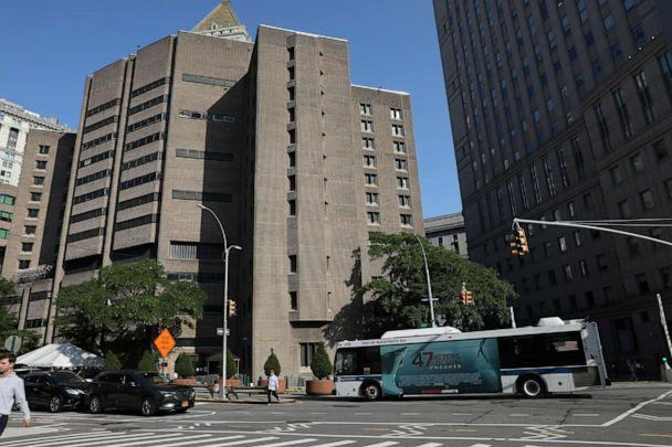 PHOTO: In this July 25, 2019, file photo, an exterior view of the Metropolitan Correctional Center jail is shown in the Manhattan borough of New York. (Brendan Mcdermid/Reuters, FILE)