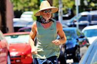<p>Chris Pine was spotted grocery shopping in Los Angeles and dressed in casual clothing and a sun hat.</p>