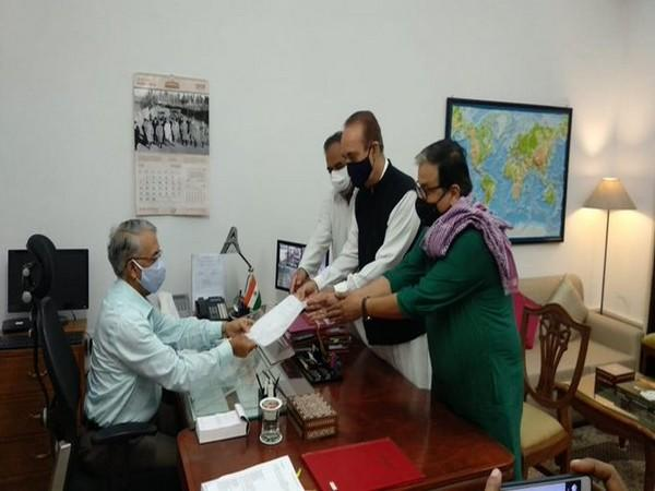RJD MP Manoj Jha filing nomination as Opposition's candidate for the post of Deputy Chairman in Rajya Sabha.
