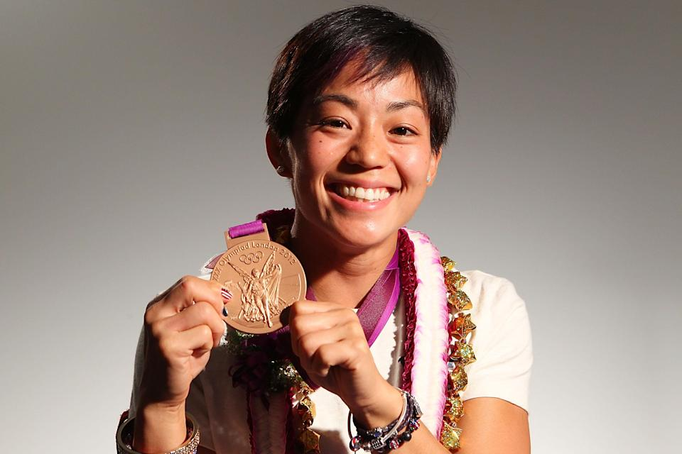 """U.S. wrestler and bronze-medalist <a href=""""http://yhoo.it/NhvZbC"""" rel=""""nofollow noopener"""" target=""""_blank"""" data-ylk=""""slk:Clarissa Chun"""" class=""""link rapid-noclick-resp"""">Clarissa Chun</a> is of Chinese/Japanese descent. (Photo by Joe Scarnici/Getty Images for USOC)"""