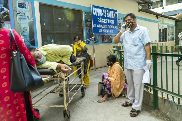 New Delhi's hospitals have been overwhelmed by a coronavirus wave battering India, with beds and oxygen in short supply