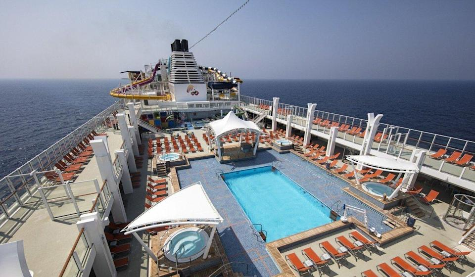 A view of the pool from The Genting Dream Cruise.  Photo: Handout