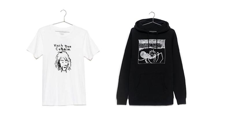 """Kurt Cobain's estate launches """"Kurt Was Here"""" apparel collection, featuring $113 t-shirts"""