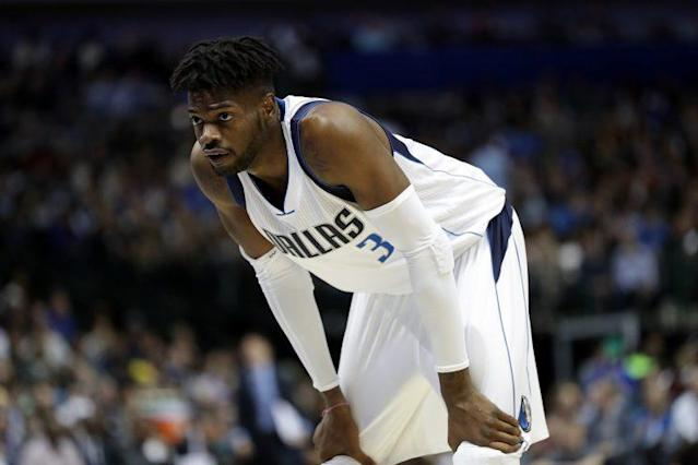 "Could <a class=""link rapid-noclick-resp"" href=""/nba/players/5157/"" data-ylk=""slk:Nerlens Noel"">Nerlens Noel</a>'s free agency plight become the norm for centers in today's NBA? (Getty)"