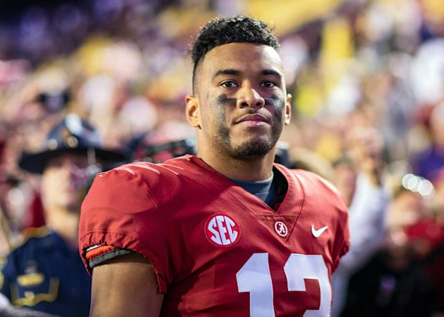 Tua Tagovailoa's uncertain medical prognosis means whatever team takes him is rolling the dice more than usual. (Photo by John Korduner/Icon Sportswire via Getty Images)