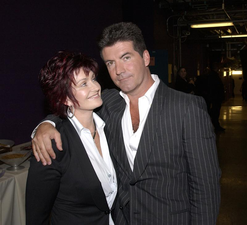 Sharon Osbourne and Simon Cowell. (Photo: Ray Mickshaw/WireImage)