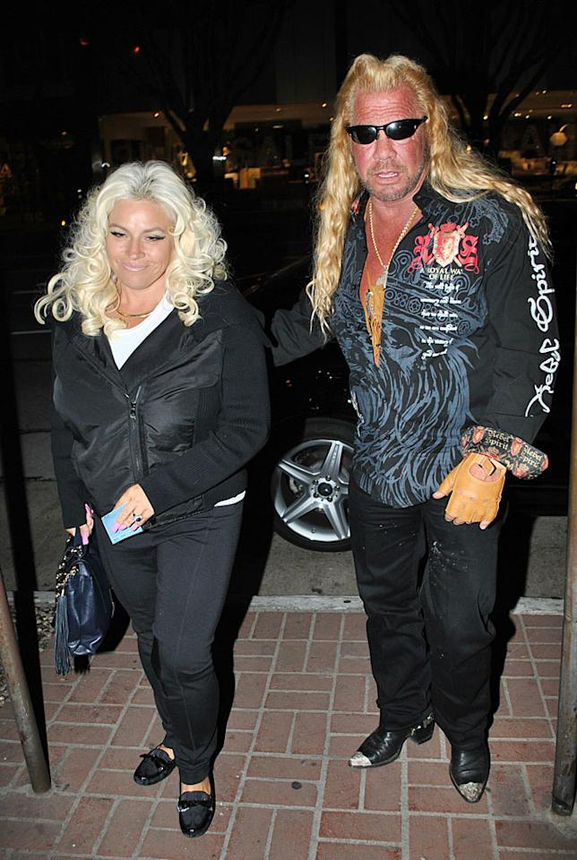 """No, there weren't any criminals on the loose inside, but """"Dog the Bounty Hunter"""" stars Duane """"Dog"""" Chapman and his wife, Beth, also decided to hit Madeo for dinner the night before Denise was there. (1/8/2012)"""