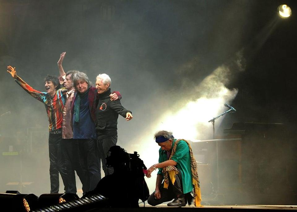 The Rolling Stones performing on the Pyramid Stage during the Glastonbury 2013 Festival (Anthony Delvin/PA) (PA Wire)