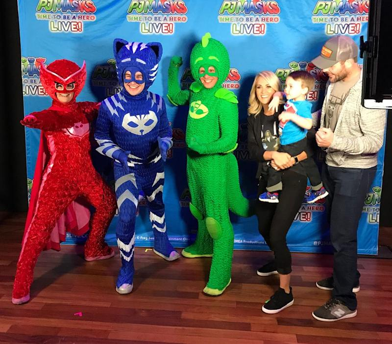 Carrie Underwood and family at PJ Masks Live