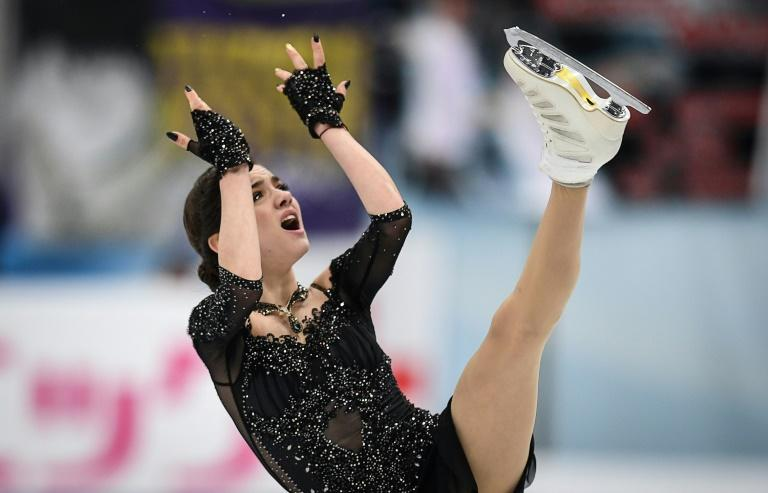 Russia's Evgenia Medvedeva competes during the senior Ladies free skating at the ISU Grand Prix Rostelecom Cup in Moscow on October 21, 2017