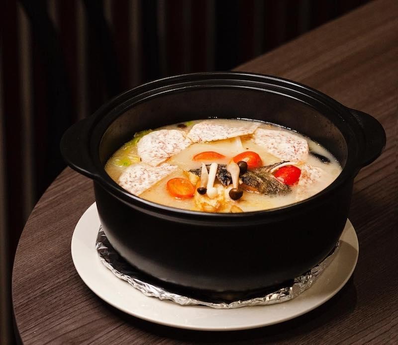 Picture of a claypot of Signature Collagen Fish Soup