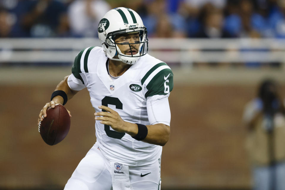 Quarterback Mark Sanchez (6) played four seasons for the New York Jets. (AP)