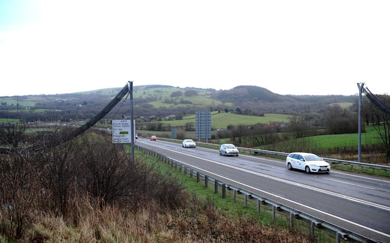 A £190,000 bridge for DORMICE to safely cross a busy road will cost another £63,000 - because it was brought down in a storm.  - Credit: Wales News Service