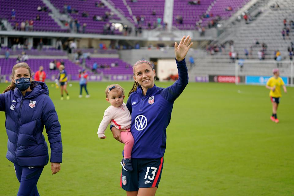 Alex Morgan gave birth to her daughter Charlie last year. (Photo by Brad Smith/ISI Photos/Getty Images)