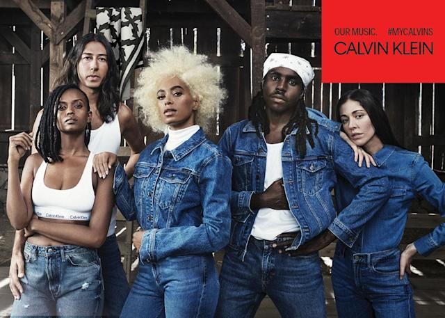 <p><strong>Models:</strong> Solange, Kelela, Dev Hynes, Caroline Polachek and Adam Bainbridge of Kindness<br><strong>Photographer: </strong>Willy Vanderperre<br> (Photo: Courtesy of Calvin Klein) </p>