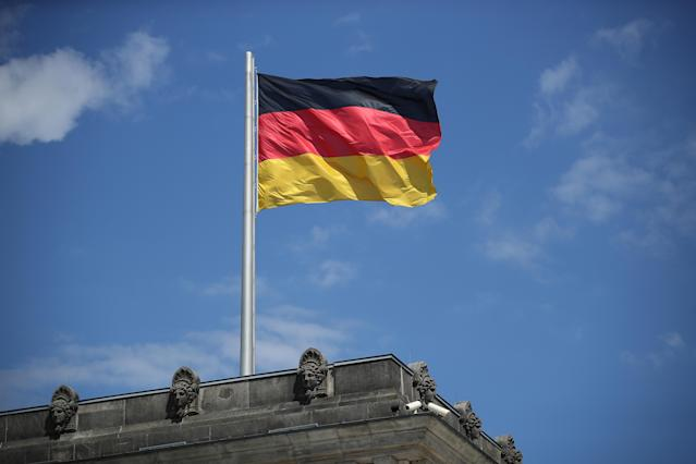 A German flag flies over the Reichstag in Berlin, Germany. Photo: Sean Gallup/Getty Images