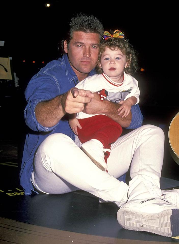 """Miley was somewhat famous at birth, thanks to her """"Achy Breaky Heart"""" dad, Billy Ray Cyrus, who was a country music heartthrob ... despite his mullet. Her pop tells the story that his 8-year-old daughter declared she wanted to be an actress after watching a production of """"Mamma Mia!"""" in Toronto, the city where he shot his TV show, """"Doc."""" The little girl reportedly grabbed his arm during the first act and said, """"This is what I want to do, daddy."""" Ron Galella, Ltd./Ron Galella/<a href=""""http://www.wireimage.com"""" target=""""new"""">WireImage.com</a> - October 8, 1994"""