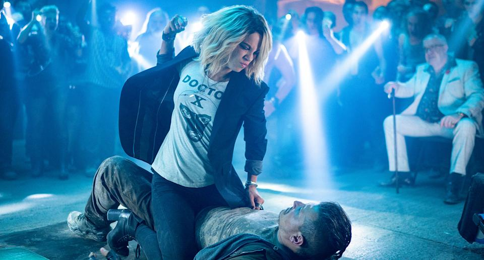 Kate Beckinsale is in action mode for Jolt (Amazon Prime Video)