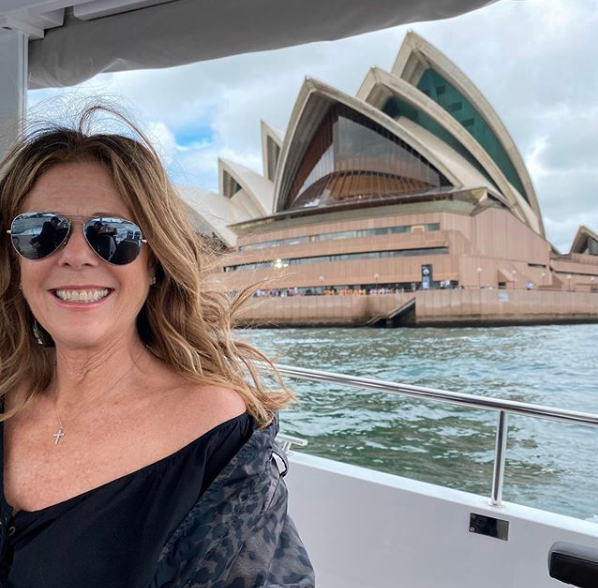 Rita Wilson and Tom Hanks were enjoying their trip before the virus disrupted it. Photo: Instagram/ ritawilson