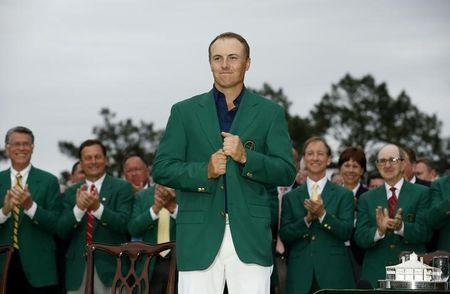 When Jordan Spieth tries to hang on to his green jacket next April, Canadians will be watching him on CTV. REUTERS/Jim Young