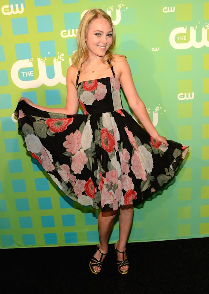 "AnnaSophia Robb (""The Carrie Diaries"") attends The CW's 2012 Upfronts on May 17, 2012 in New York City."