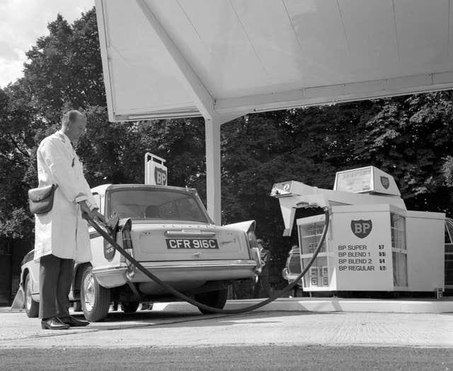 With far fewer cars on the road, petrol was relatively expensive in 1966
