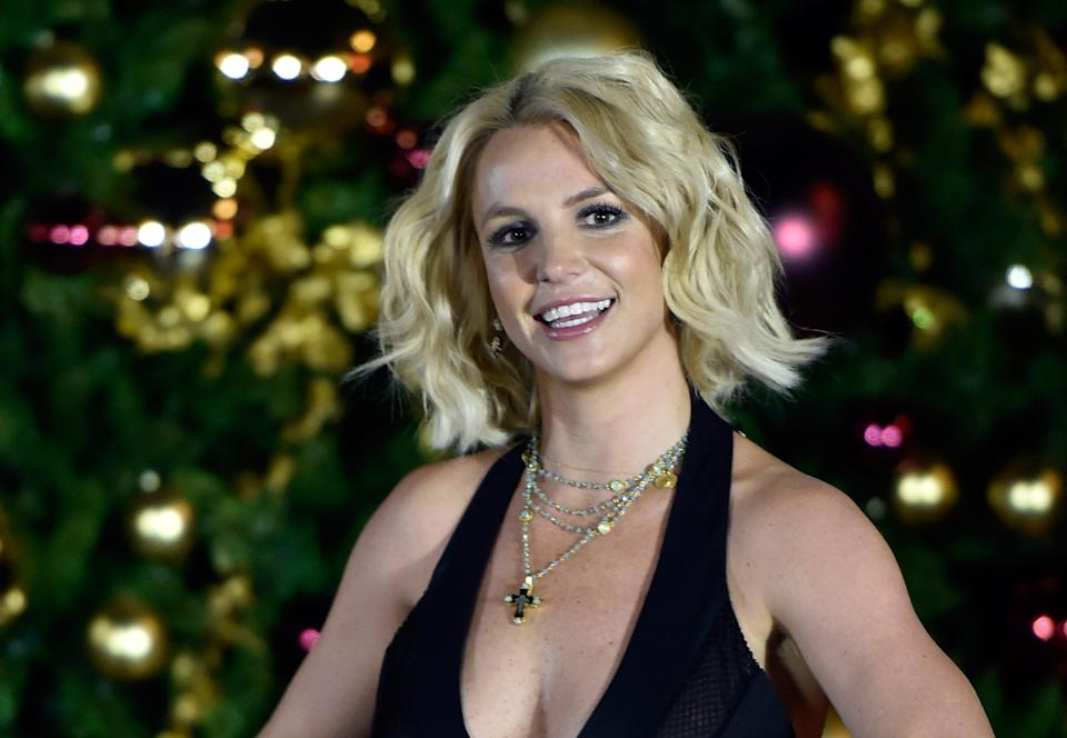 File Image: Britney Spears at a Christmas tree-lighting ceremony at The LINQ Promenade in 2015 (Getty Images)