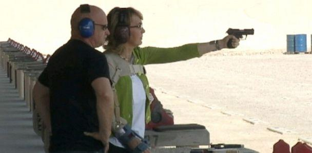 ktnv giffords gun 130701 mi 33x16 608 Gabrielle Giffords Shoots Gun During Start of Gun Control Tour