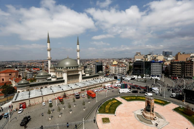 Newly built Taksim Mosque in central Istanbul