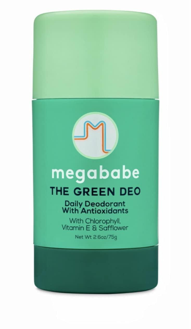 """<p>""""After years of searching for an effective natural deodorant, I am pleased to report that the <span>Megababe Green Deo Daily Deodorant</span> ($22) is it. The Green Deo smells delicious in a fresh, clean, lemony-scented way that's free of parabaens and sulfates, and I've never been more excited to spread the word about a deodorant."""" - HM</p>"""