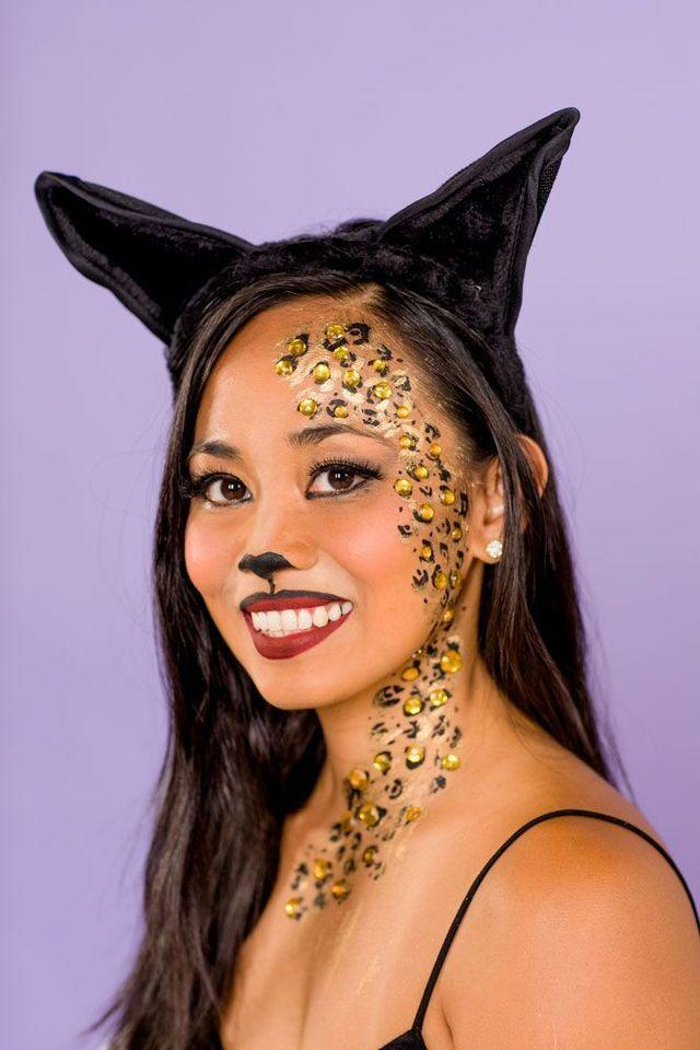"<p>Going as a cat is the go-to easy Halloween costume for both kids and adults — so it only makes since that this tutorial works for both trick-or-treaters and grown-ups.</p><p><em><a href=""https://www.goodhousekeeping.com/beauty/makeup/a22995483/cat-makeup/"" rel=""nofollow noopener"" target=""_blank"" data-ylk=""slk:Get the tutorial »"" class=""link rapid-noclick-resp"">Get the tutorial »</a></em></p>"