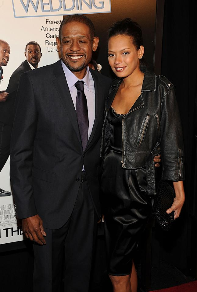 """<a href=""""http://movies.yahoo.com/movie/contributor/1800022007"""">Forest Whitaker</a> and wife Keisha at the New York City premiere of <a href=""""http://movies.yahoo.com/movie/1810093971/info"""">Our Family Wedding</a> - 03/09/2010"""