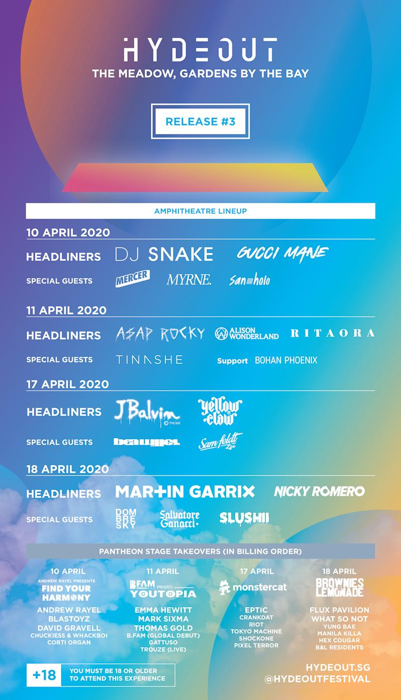 Hydeout Music Festival line-up