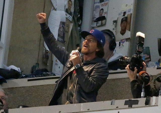Eddie Vedder steals the show in the latest MLB commercial. (AP)