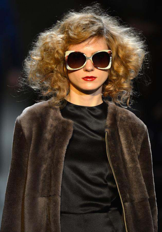 <p><strong>Marc by Marc Jacobs autumn/winter 2013 show</strong></p> <p>Faux furs and silk shirts added a sophisticated edge to the Marc by Marc Jacobs show.<strong><br /></strong></p>