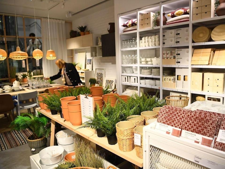 ikea plant and pot section