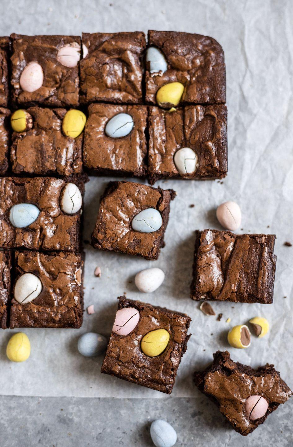 "<p>Add an extra dose of chocolate to these fudgy brownies by putting a handful of mini eggs on top.</p><p><strong>Get the recipe at <a href=""https://mikebakesnyc.com/mini-egg-brownies/"" rel=""nofollow noopener"" target=""_blank"" data-ylk=""slk:Mike Bakes NYC"" class=""link rapid-noclick-resp"">Mike Bakes NYC</a>.</strong></p><p><strong><a class=""link rapid-noclick-resp"" href=""https://go.redirectingat.com?id=74968X1596630&url=https%3A%2F%2Fwww.walmart.com%2Fsearch%2F%3Fquery%3Dparchment%2Bpaper&sref=https%3A%2F%2Fwww.thepioneerwoman.com%2Ffood-cooking%2Fmeals-menus%2Fg35408493%2Feaster-desserts%2F"" rel=""nofollow noopener"" target=""_blank"" data-ylk=""slk:SHOP PARCHMENT PAPER"">SHOP PARCHMENT PAPER</a><br></strong></p>"