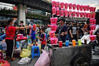 The bonanza is a blessing for many vendors as the coronavirus sends Thailand's economy into freefall