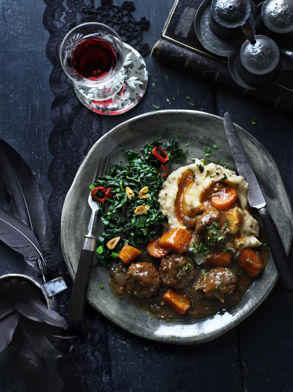 "<p>Apparently you can speed up the prep for <a href=""http://www.waitrose.com/content/waitrose/en/home/recipes/recipe_directory/b/beef-meatball-andguinessstew.html"" rel=""nofollow noopener"" target=""_blank"" data-ylk=""slk:this simple stew"" class=""link rapid-noclick-resp"">this simple stew</a> by Melissa and Jasmine Hemsley by using prepared meatballs. You can also make it in advance too! [Photo: <a href=""http://www.waitrose.com/recipes"" rel=""nofollow noopener"" target=""_blank"" data-ylk=""slk:www.waitrose.com/recipes"" class=""link rapid-noclick-resp"">www.waitrose.com/recipes</a>] </p>"